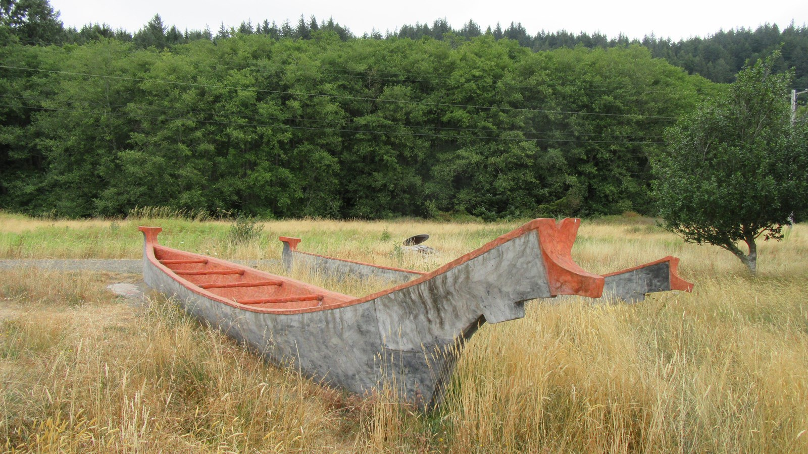 two canoes in a prairie
