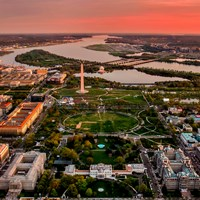Aerial View of the National Mall and Memorial Parks
