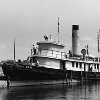 The Baltimore in the process of being restored.