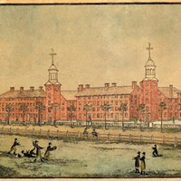 1807 drawing of Yale University in New Haven