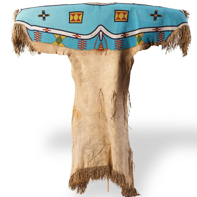 Buckskin dress from Grand Teton National Park