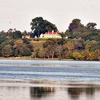 View of Mount Vernon across the Potomac River from Piscataway Park.