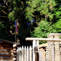 Fort Clatsop with Flag