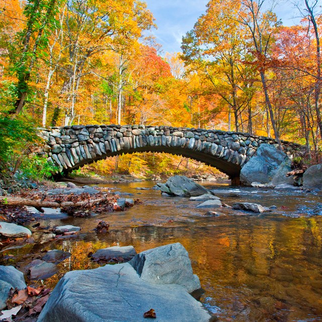 Boulder Bridge in Rock Creek Park.