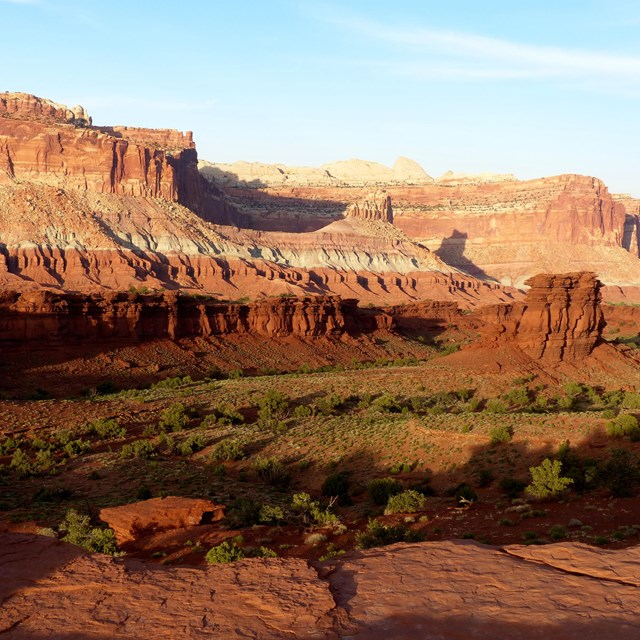 Canyonland vista at sunset