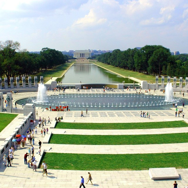 View from above the World War II Memorial.