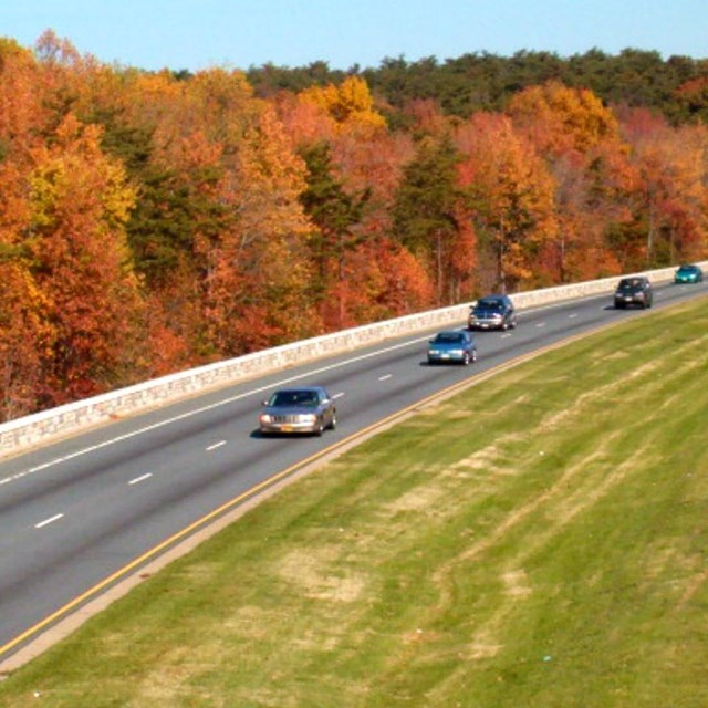 Fall colors on the Baltimore-Washington Parkway.
