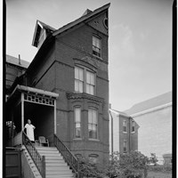 Black and white photo of the Mary Church Terrell house, circa 1933.