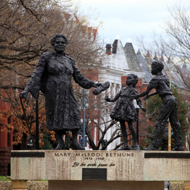 Mary McLeod Bethune Memorial in Lincoln Park.