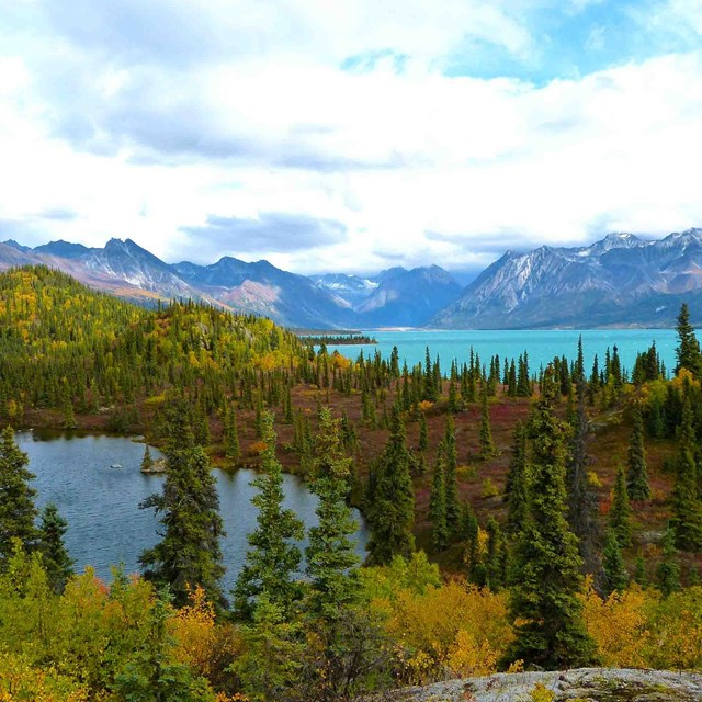 Alaska\'s amazing color palate shown in Lake Clark National Park and Preserve.