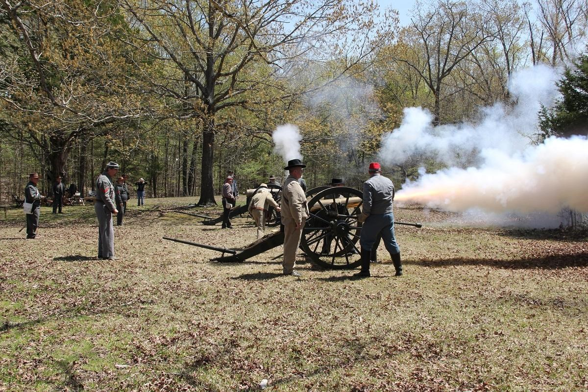 Cannon firing demonstration