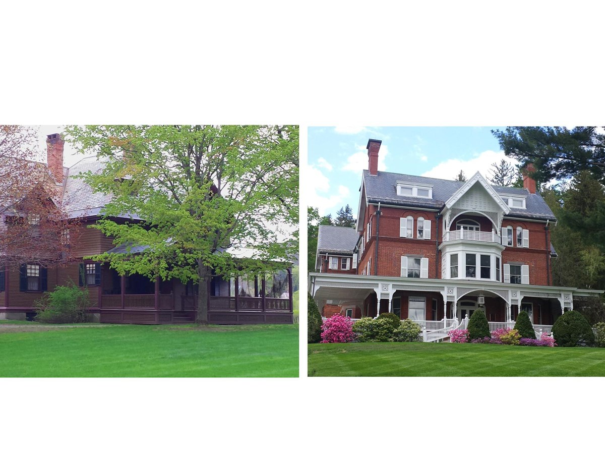 1890s Billings Farm House and Mansion collage