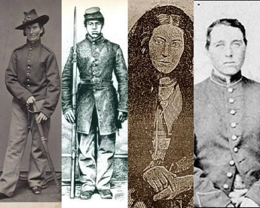 Four images of women during the Civil War.