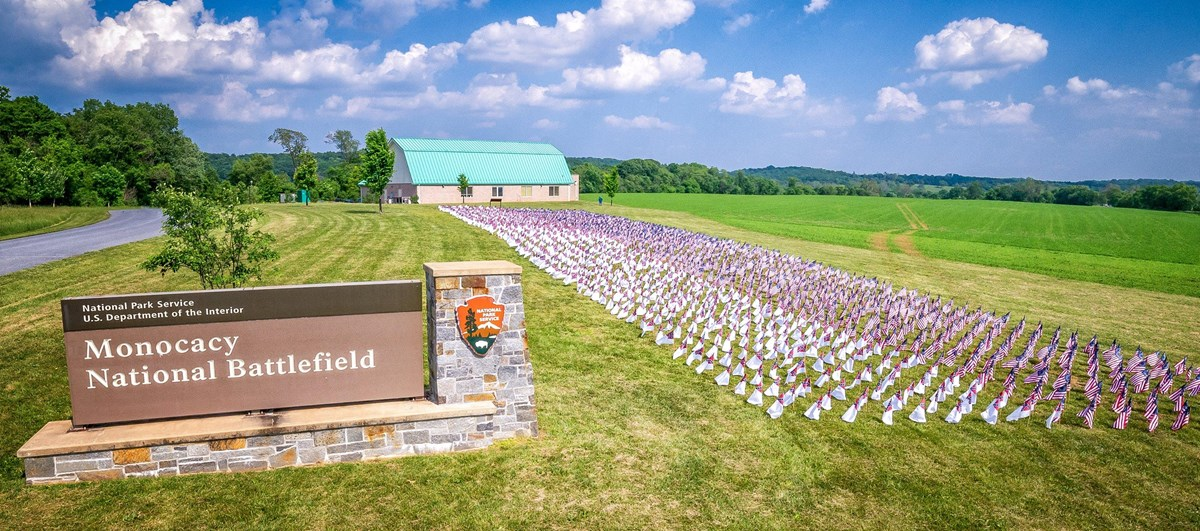 2,200 Historic flags at Visitor Center