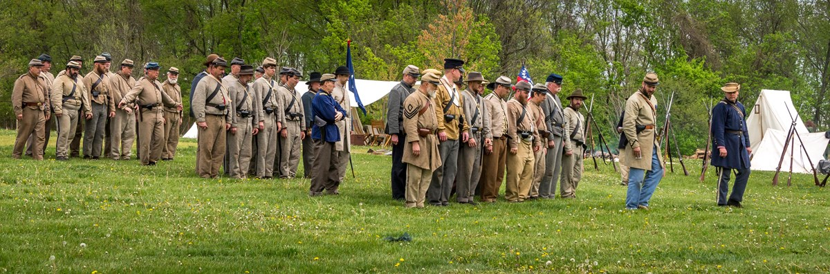 Confederate Infantry Marching