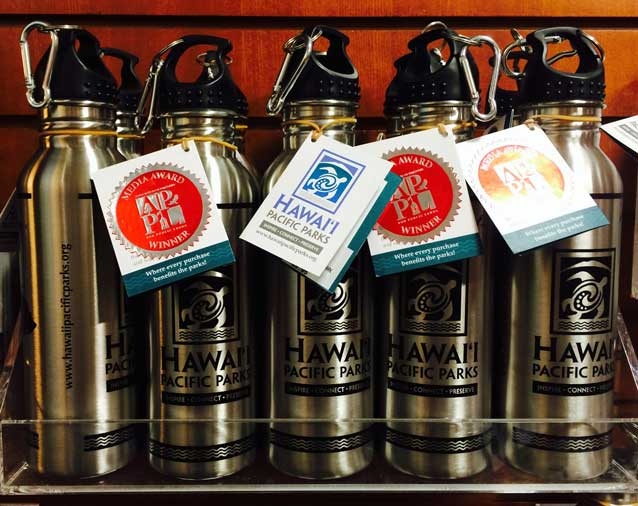 Forget your bottle? Pick one up at the Hawaii Pacific Parks Association bookstore!