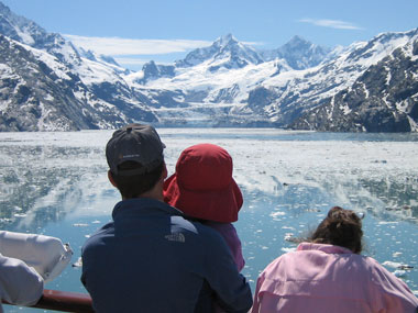 Clear day in Glacier Bay National Park