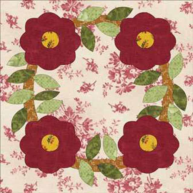 Flower Wreath Quilt Pattern