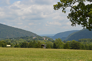 View of the watergap from Bolivar Heights