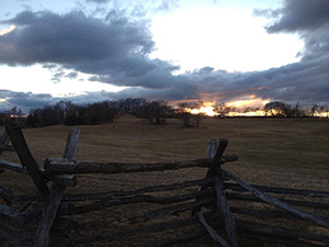 Fence line and sunset at Schoolhouse Ridge North