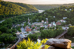 View of Lower Town from Maryland Heights overlook