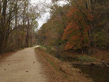 Great Allegheny Passage trail in changing of seasons
