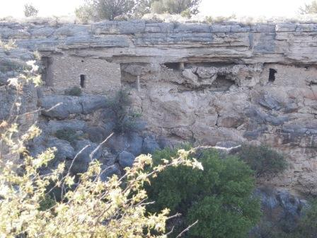 Two masonry rooms are set in the caves of Montezuma Well.
