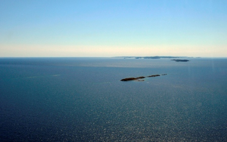 Aerial View of Isle Royale, looking west