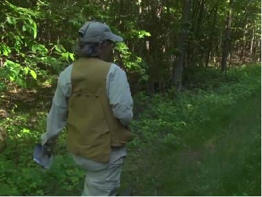 A birder journeys into the woods