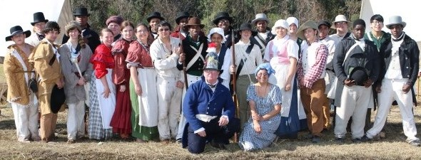 Students Portray Men & Women Who Defended New Orleans from British