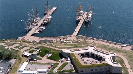 Aerial view of Fort Trumbull, CT.