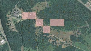 GIS map of archeological site