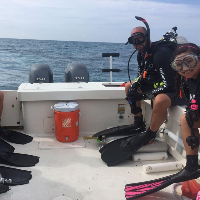 SEAC's Dive team on a boat during underwater survey