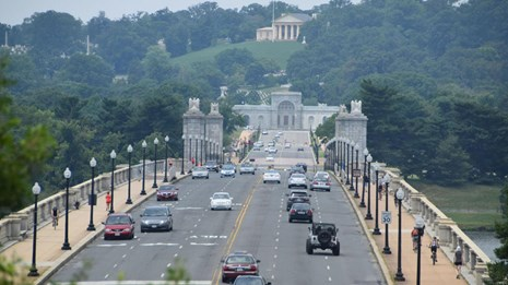 The structurally deficient Arlington Memorial Bridge is getting rehabilitated.