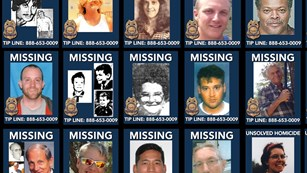 Cold cases include missing persons and unsolved incidents. NPS image.