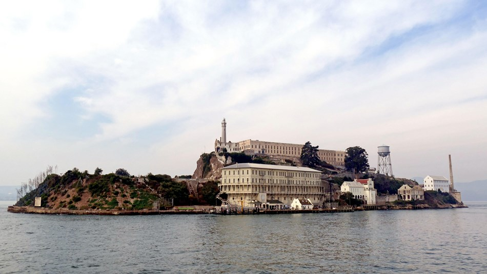 view of Alcatraz Island from the Pacific Ocean