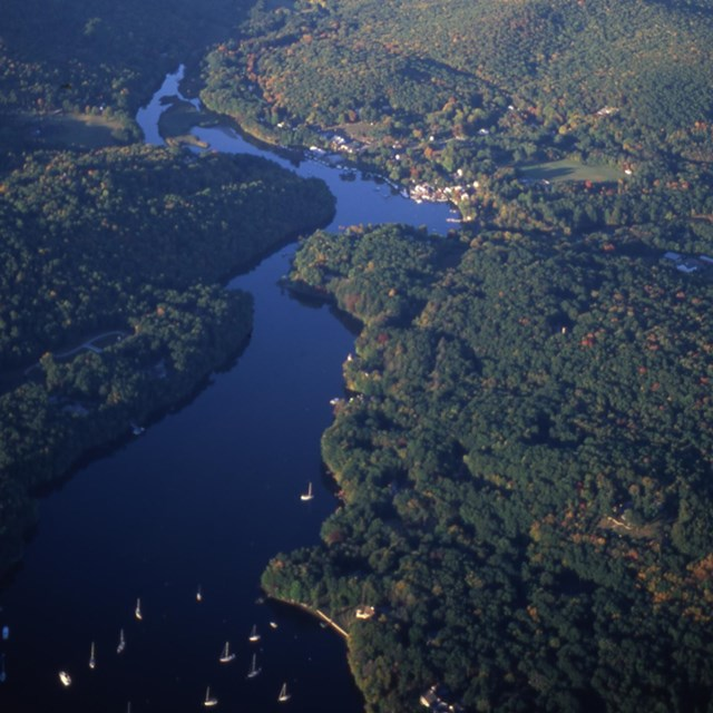aerial view of Eightmile River