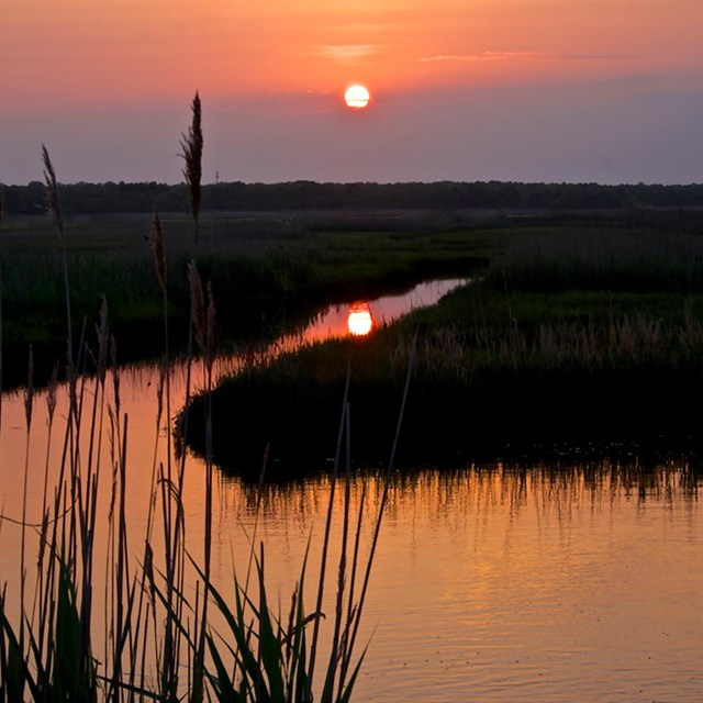 beautiful sunset over Great Egg Harbor River