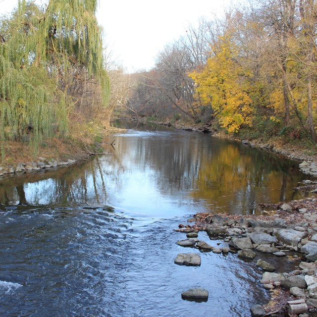 site of a former dam on the Musconetcong River