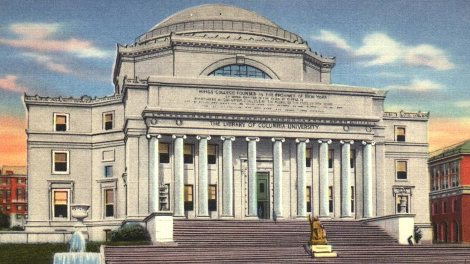 Large Greco-Roman style building with dome roof. Columbia Digital Library Collections