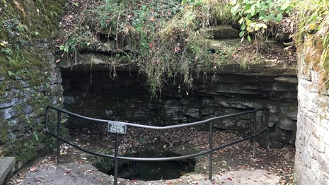 The Sinking Spring was the water source for the Lincoln family