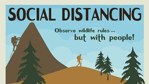 Image of a safety infographic about social distancing