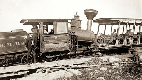 Historic photograph of a cogwheel train