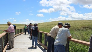 Tour groups enjoy walking to the Niobrara River bridge if time is short.