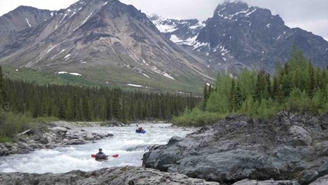 Packrafting on the Kijilik River.