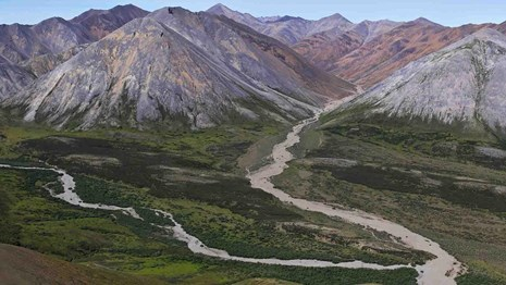 The Brooks Range and rivers in Noatak National Preserve.