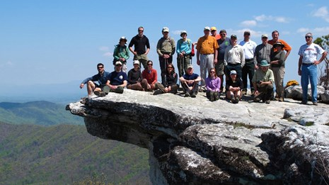 A.T. Partners stand on McAfee Knob
