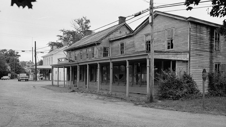 Photo of old buildings in Still Pond District. Library of Congress.
