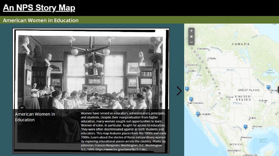 Snapshot of existing storymap with text and digital map.