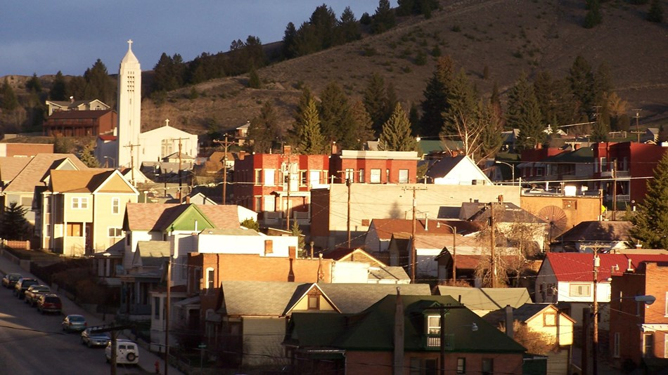 Photo of the Butte Historic District looking over the town. Photo: uploaded by Geologyguy, CC0